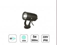 LED градински спот 6000К 5W 220V пета