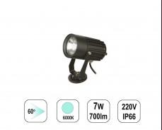 LED градински спот 6000К 7W 220V пета