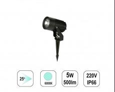 LED градински спот 24 градуса 6000К 5W 220V колче