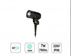 LED градински спот 6000К 7W 220V колче