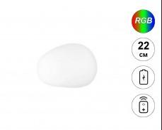 Светеща фигура КАМЪК с RGB LED акумулатор и дистанционно IP65 22 см