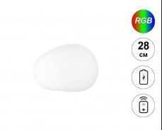 Светеща фигура КАМЪК с RGB LED акумулатор и дистанционно IP65 28 см