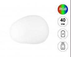 Светеща фигура КАМЪК с RGB LED акумулатор и дистанционно IP65 40 см