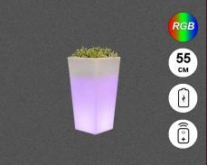 Светеща кашпа с RGB LED акумулатор и дистанционно IP65 55см