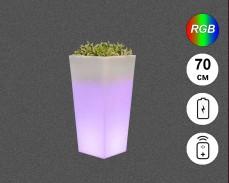 Светеща кашпа с RGB LED акумулатор и дистанционно IP65 70см