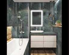 Светещо огледало за стена с LED 3/4/6000К 80х60см 220V 37W димируемо