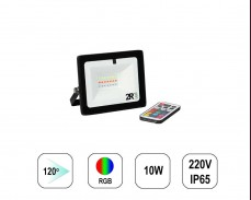 RGB LED прожектор RECORD 10W IP65  220V