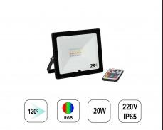 RGB LED прожектор RECORD 20W IP65  220V