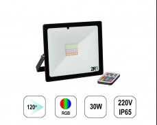 RGB LED прожектор RECORD 30W IP65  220V