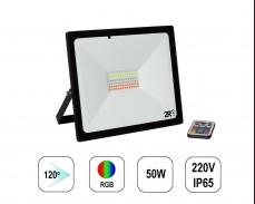 RGB LED прожектор RECORD 50W IP65  220V