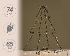 3D Светеща Коледна Елха сгъваема 65см