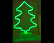Светеща фигура ЕЛХА LED неон зелен 26 см