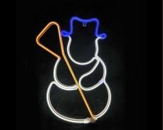 Светеща фигура СНЕЖЕН ЧОВЕК LED неон МНОГОЦВЕТЕН 53 см