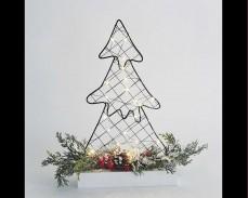 Светеща декорация Коледно дърво с 30 топло бели микро LED 40см.