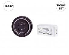 Комплект SELI SET - RF MONO димер и приемник за LED осветление 12/24V ЧЕРЕН