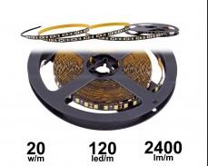 20W LED лента с черна основа БЯЛО 4000K 120 2835 12V IP20