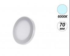 LED мебелна луна SENSO 6000К 12V 2.5W 70мм кръг сива