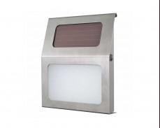 LED соларна лампа за светеща номерация 4000К INOX