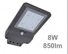 LED улична соларна лампа със сензор 8W 850lm IP65