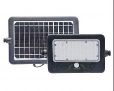 Соларен панел и LED прожектор с PIR сензор 1100lm 50W IP56 комплект
