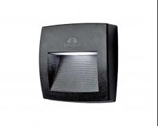 LED фасадна лампа LORENZA 150 черен аплик 3W