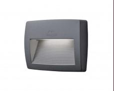 LED фасадна лампа LORENZA 190 сив аплик 7.5W