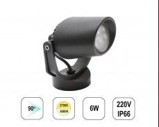 LED градински спот TOMMY MINI 6W 220V пета черен
