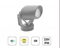LED градински спот TOMMY MINI 6W 220V пета сив