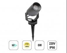 LED градински спот TOMMY MINI колче 6W 220V черен