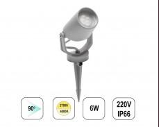 LED градински спот TOMMY MINI колче 6W 220V сив