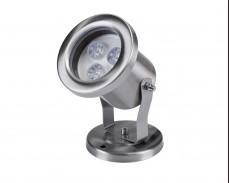 Водоустойчива LED лампа за водни басейни 12V 3W INOX IP68
