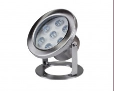 Водоустойчива LED лампа за водни басейни 12V 7W INOX IP68