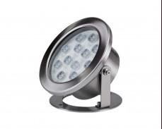 Водоустойчива LED лампа за водни басейни 24V 12W INOX IP68