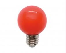 ЧЕРВЕНА LED крушка 3W Е27 G60 220V