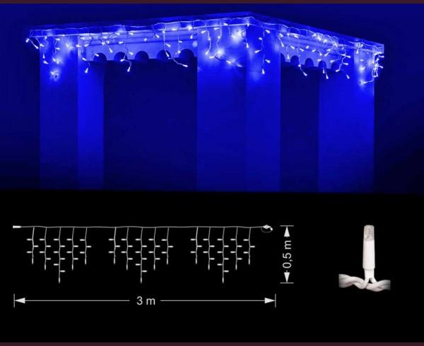 Професионални висящи 114 СИНИ led лампи 3м влагоустойчиви с бял кабел