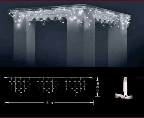 Професионални висящи 114 СТУДЕНО БЕЛИ led лампи 3м влагоустойчиви с бял кабел