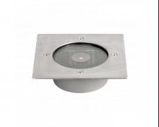 Соларна LED луна за вграждане в пътеки 0,28W IP55 120x120mm INOX