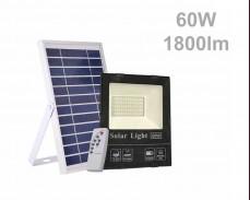 Соларен панел и LED прожектор с дистанционно 60W 1800lm 15Ah IP65