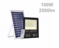 Соларен панел и LED прожектор  с дистанционно 100W 2500lm 20Ah IP65