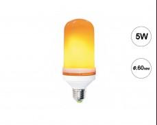 LED  крушка огнени пламъци 5W E27 1400К