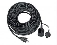 Удължител влагоустойчив 25м черен IP44