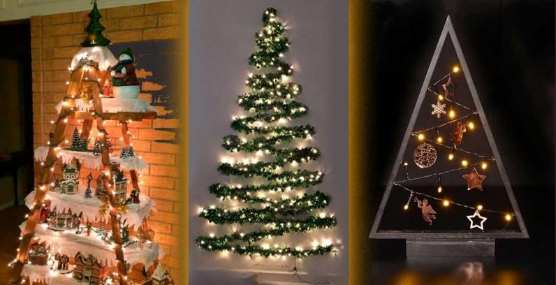 Нестадартни коледни елхи с лампички