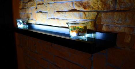 LED осветление на рафт