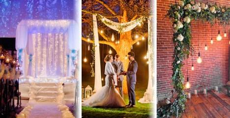 Осветление на сватбената арка