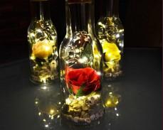 Светеща декорация Роза в Бутилка под наем