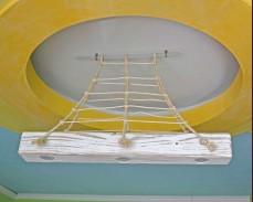 Дървена лампа морски стил 1
