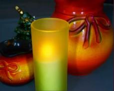 Свещ в чаша с LED 13см