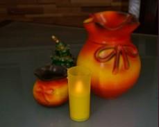Свещ в чаша с LED 10см