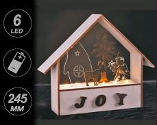 Светеща декорация КЪЩА,  ЕЛЕН и АНГЕЛ с LED лампички на батерии