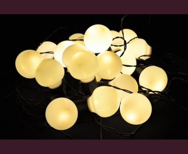Парти лампи 20 ТОПЛО БЕЛИ led лампи с траф 10 + 9м